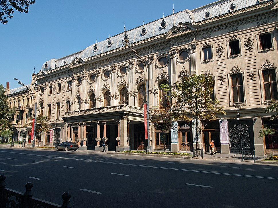 Rustaveli National Theater in Georgia (Europe), built 19th century in Rococo style