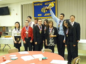 Rutherford High School (New Jersey) - Rutherford Academic Decathlon wins New Jersey state championship for the second consecutive year.