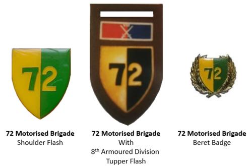 SADF era 72 Brigade insignia