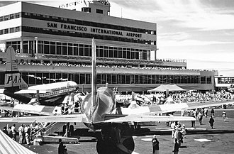 San Francisco International Airport - Opening gala at the Central Passenger Terminal (August 27, 1954)