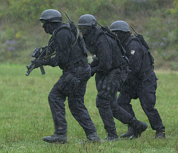 English: A Picture of FBI SWAT officers. Origi...