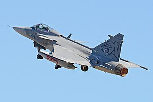 Hungarian Air Force -  A JAS39C on life off