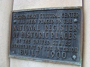 Sacred Heart Cultural Center - Sacred Heart plaque