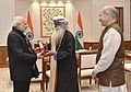 Sadhguru Jaggi Vasudev calling on the Prime Minister, Shri Narendra Modi, in New Delhi.jpg