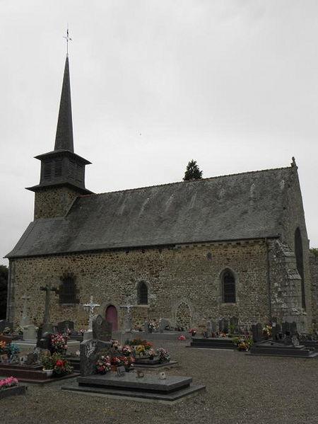Eglise Saint-Gondran à Saint-Gondran (35). Vue méridionale.