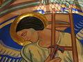 Saint Aloysius Church (Bowling Green, Ohio) - sanctuary mural detail, angel holding a hammer and ladder.jpg
