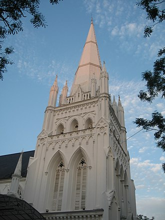 St Andrew's Cathedral, Singapore - The main steeple of the Cathedral