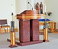 Saint Joseph's Catholic Church ambo - Beltsville, Maryland.JPG