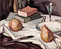 Samuel John Peploe - Still life with pears and wineglass - Google Art Project.jpg