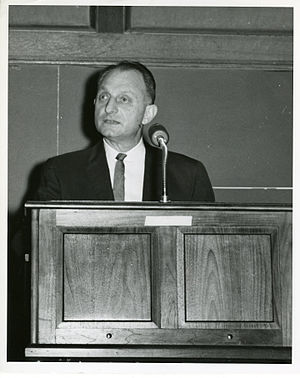 Samuel N. Alexander - Samuel N. Alexander in 1964, speaking at the SEAC computer retirement ceremony.