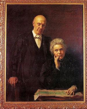 Henrietta Barnett - Samuel and Henrietta Barnett portrait by Hubert von Herkomer in Toynbee Hall