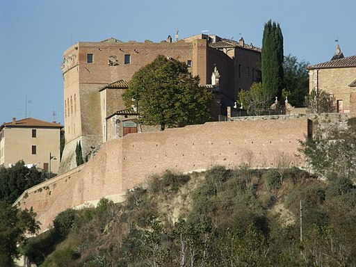 The Castle of San Giovanni d'Asso, seen from South