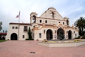 Culture of California - San Gabriel Civic Auditorium, an example of Mission Revival Style architecture