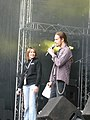 Sanna and André from Bandit at Sonisphere 2010.JPG