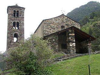 Canillo - The 12th-century Romanesque church of San Joan de Caselles