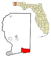 Location in Santa Rosa County and the U.S. state of Florida