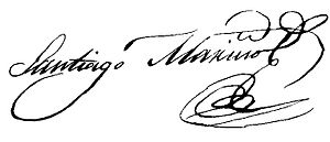 Santiago Mariño - Signature of Santiago Mariño