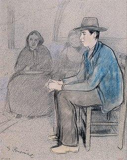 Santiago Rusiñol - After the War. The Sad Home - Google Art Project