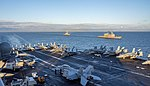 Saxon Warrior is a United States and United Kingdom co-hosted carrier strike group exercise that demonstrates interoperability and capability to respond to crises and deter potential threats. (36342298401).jpg