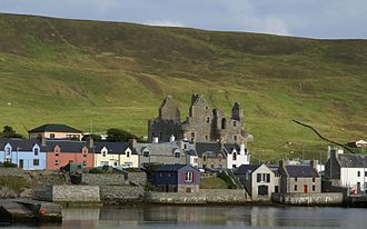 Shetland bus - A contemporary image of Scalloway harbour, the wartime base of the Shetland Bus.