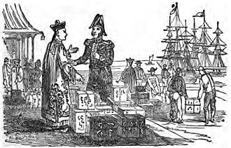 Canton System - Scene in China (1852, p.Vignette)