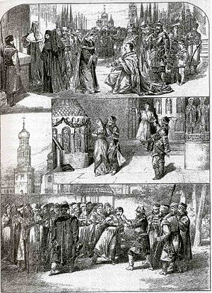 Dimitrij - Scenes from Dimitrij, pictured by Emil Zillich for the Světozor journal, 1883