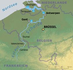 Virtaa Belgian Läpi