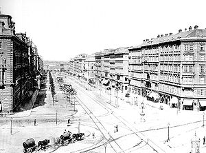 Vienna Ring Road - The Schottenring section of the Ringstraße in 1875