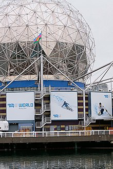 Science World during 2010 Winter Olympics.jpg