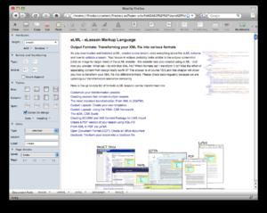 ELML - Screenshot of the new Firedocs eLML Editor