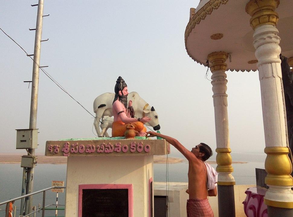 Sculpture depicting govu vatsa and gowthama legend