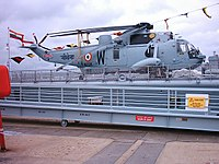Sea King aboard destroyer INS Mumbai