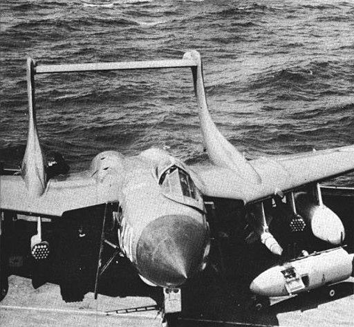 Sea Vixen of 892 NAS on USS Forrestal (CVA-59) c1962