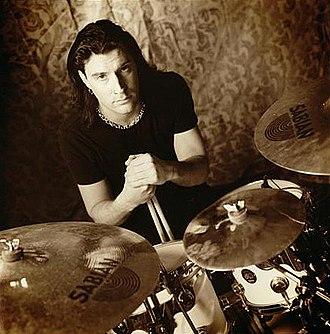 Sean Kinney - Sean Kinney posing for Sabian in 2002.