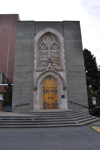 St. Mark's Episcopal Cathedral, Seattle - Image: Seattle St. Mark's Cathedral Thomsen Memorial Chapel door