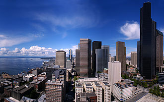 Smith Tower - View looking north from the observation deck, August 2007