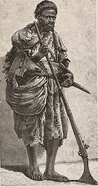 History of South Sudan - An illustration of Al-Zubayr Rahma Mansur from 1889.