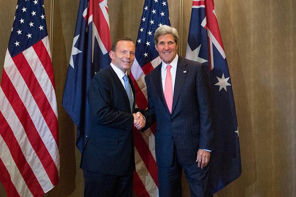 Secretary Kerry Greets Australia's Prime Minister Abbott (10152933465)