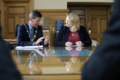 Secretary of State Karen Bradley MP meets with civic leaders in Londonderry (43085210174).png