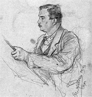 Christian Wilhelm Allers - Self portrait, 1894