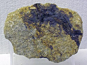 Selenium - Native selenium in sandstone, from a uranium mine near Grants, New Mexico