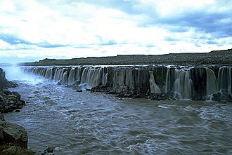 Selfoss (waterfall) - Image: Selfoss View From North East