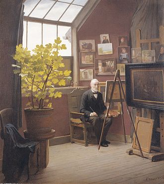 Julius Exner - Julius Exner, Self-Portrait, the Artist's Last Work, 1910, Loeb Danish Art Collection