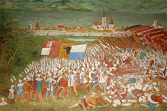 Infantry in the Middle Ages - Pikemen at the Battle of Sempach, 1386