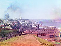Sergei Mikhailovich Prokudin-Gorskii - General view of the city of Perm from Gorodskie Gorki (1910).jpg