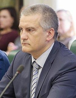 Sergey Aksyonov Head of the Republic of Crimea since 2014