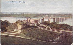 Severn and Wye Railway - Severn Bridge and the railway station of the same name