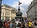 Shaftesbury Memorial and the Statue of Anteros at Piccadilly Circus.jpg