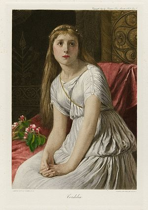 Women in Shakespeare's works - An 1896 depiction of Cordelia by William Frederick Yeams, from The Graphic Gallery of Shakespeare's Heroines