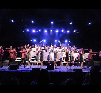 Show choir - Shepherd Hill Regional High School's Fantasy Show Choir in 2017.